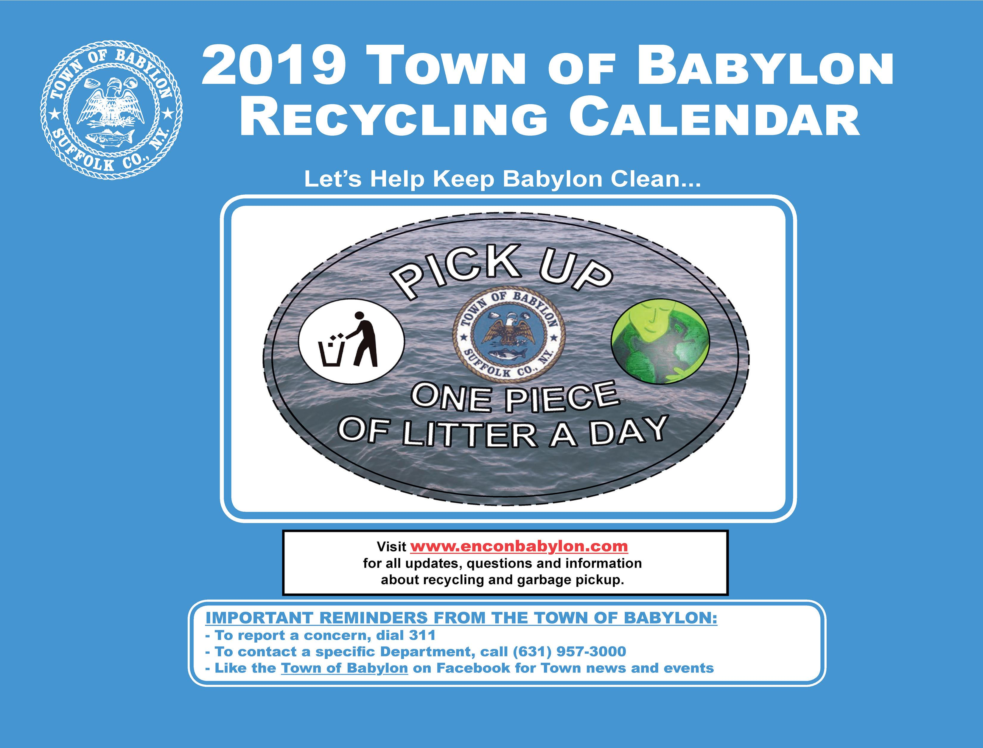 2019 Town of Babylon Recycling Calendar Opens in new window
