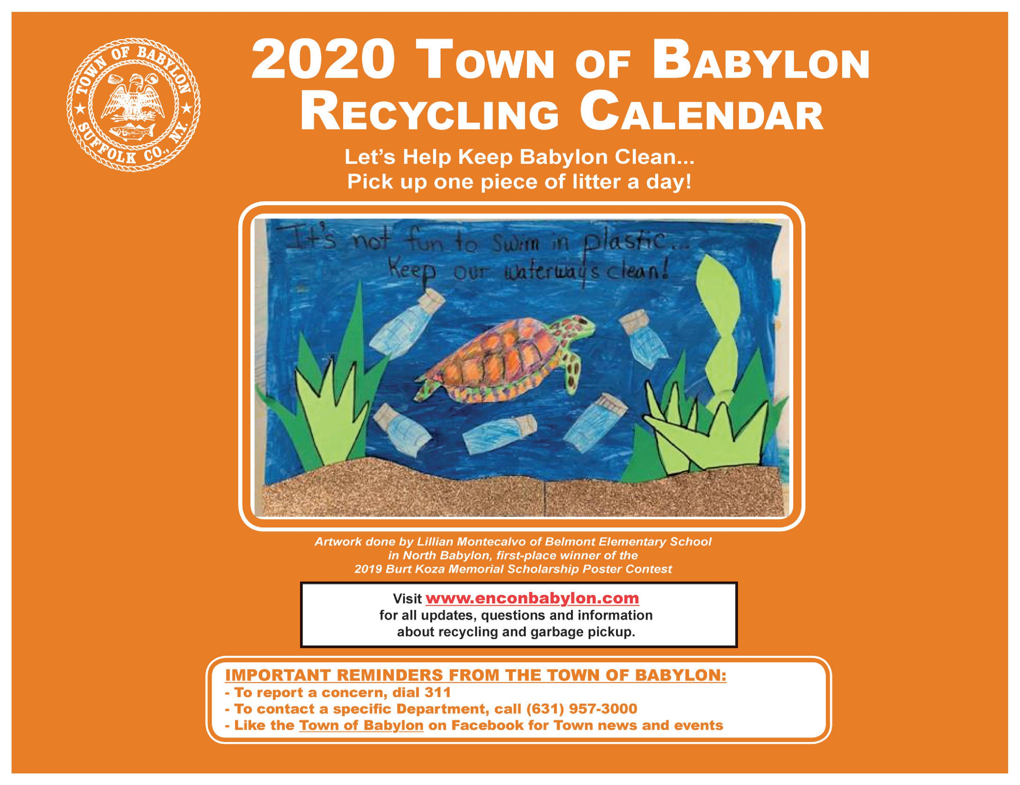 2020 Recycling Calendar Cover Page Opens in new window